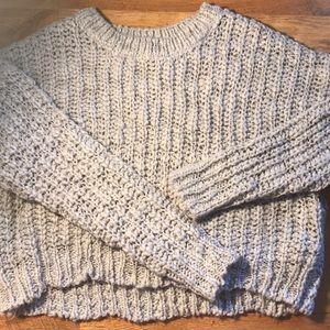 Women's Grey Knitted Sweater